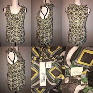 Fossil Tops - [Fossil] 100% Silk Sleeveless Top *CLEARANCE